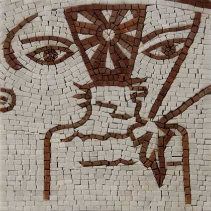 Faces Mosaic Tile Art Home Decor