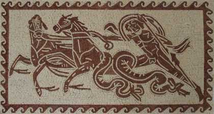 Neptune Trident Chariot Hippocamps Mosaic