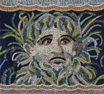 Neptune Mosaic With Shades of Blue