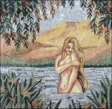 Sensual Art Bathing in the Lake Mosaic