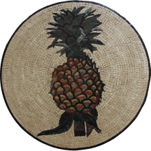 Pineapple Mosaic Tropical Wall Art
