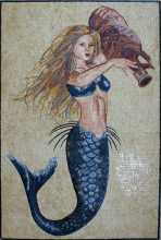 Mermaid with Urn Mosaic