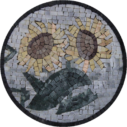 Round Sunflowers Design Wall Hanging  Mosaic