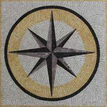 Square Floor Compass Mosaic Tile
