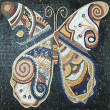 Big colorful stone tile butterfly Mosaic