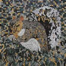Squirrel Mosaic Backsplash