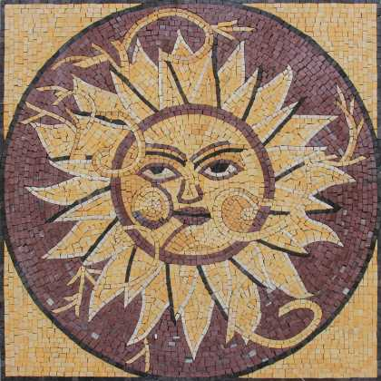 Outdoor Mosaic Sun Decoration