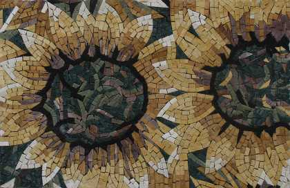 Sunflower Yellow Wall Hanging Home Decor Mosaic