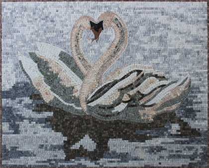 Swan Dance Mosaic Garden Decor