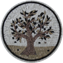Olive Tree Round Kitchen Mosaic