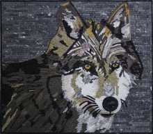 Wolf Wall Art Mosaic