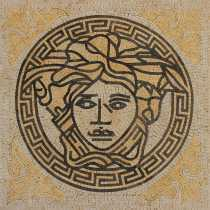 Yellow and Cream Medusa Mosaic Art